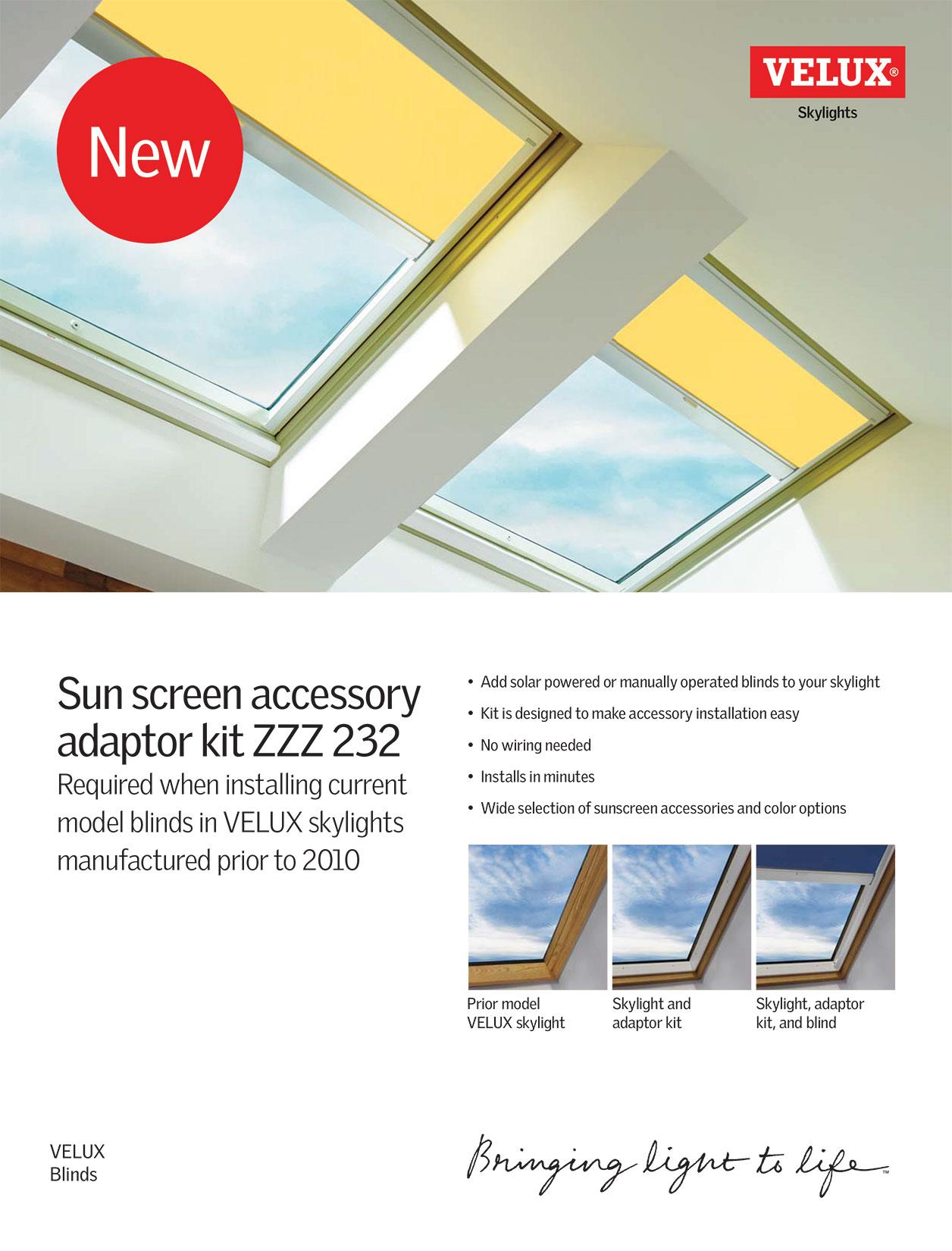 Sunscreen adapter kit flyer