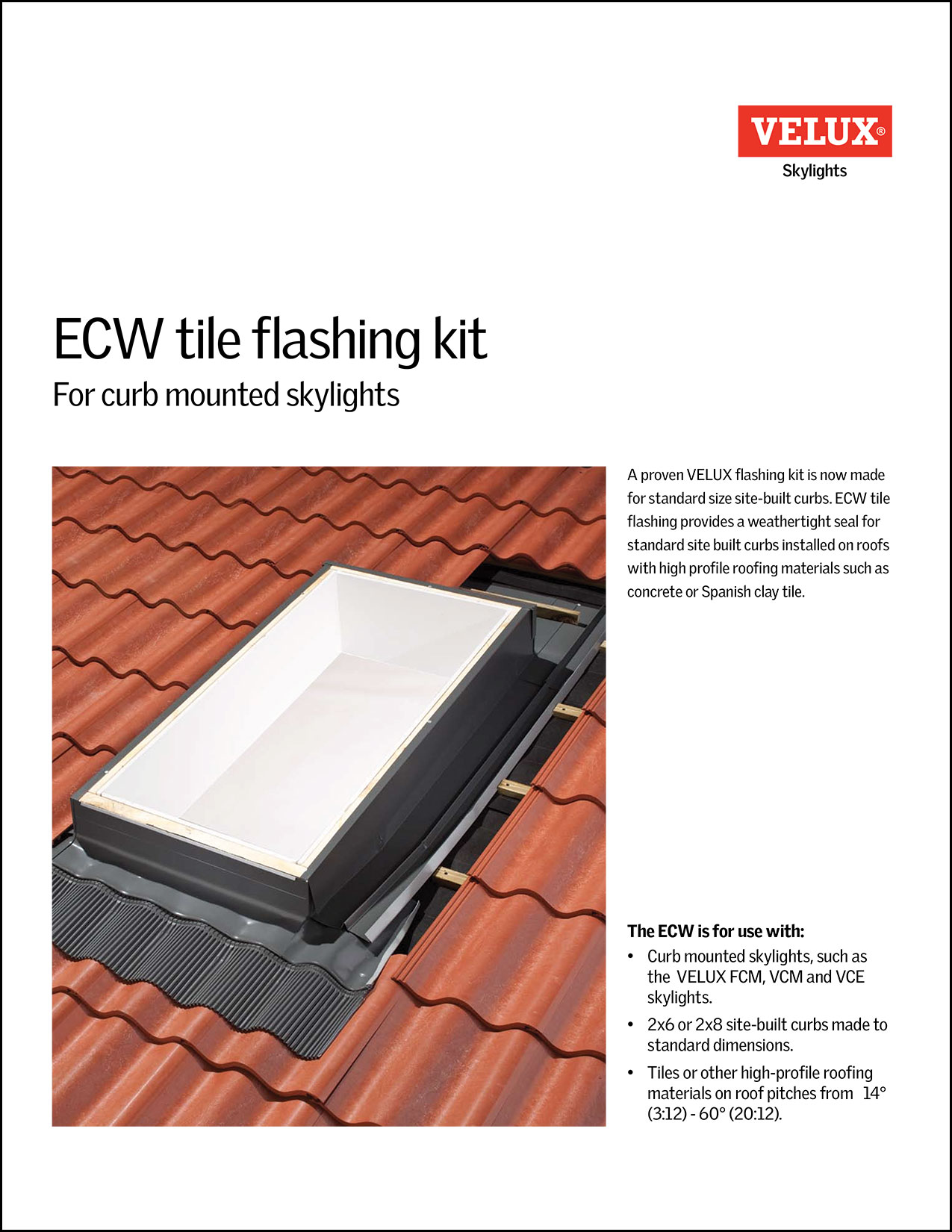 ECW Tile flashing kit brochure