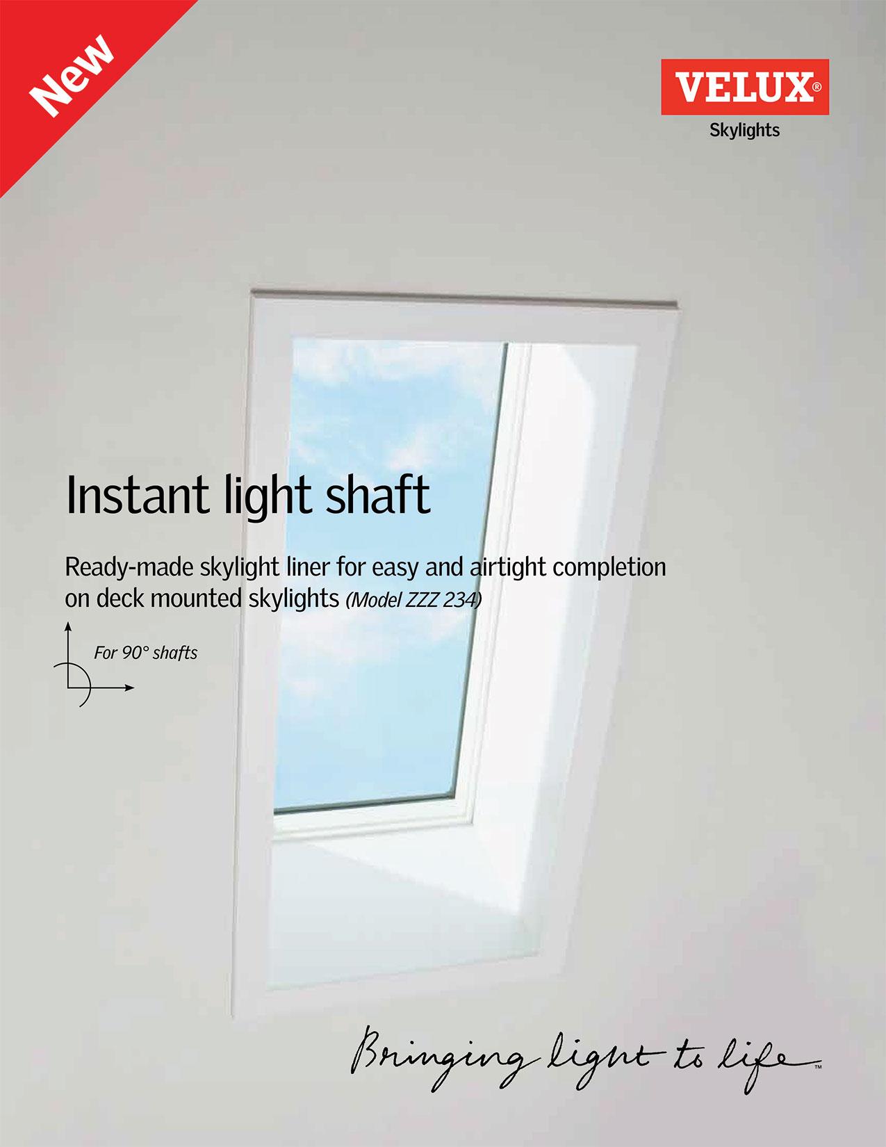 Flyer on instant light shaft